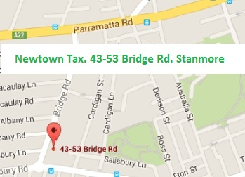 Newtown Accountants and Tax Agents Inner-West Sydney map